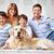 szczęścia · szczęśliwą · rodzinę · dwa · chłopców · psa · uśmiechnięty - zdjęcia stock © pressmaster