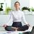 vonzó · irodai · dolgozó · gyakorol · jóga · vonzó · nő · meditál - stock fotó © pressmaster