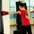 boxe · retrato · mulher · jovem · vermelho · luvas · de · boxe · treinamento - foto stock © pressmaster