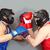Fighting in helmets stock photo © pressmaster