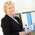 vrouw · kantoor · portret · glimlachend · zakenvrouw - stockfoto © pressmaster