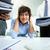 empresária · documentos · confuso · escritório · negócio · menina - foto stock © pressmaster