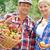 couple · panier · pommes · femme - photo stock © pressmaster