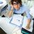 чрезвычайных · работу · бухгалтер · финансовых - Сток-фото © pressmaster