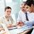 コンサルティング · ビジネスチーム · 3 ·  · 座って · オフィス · 計画 - ストックフォト © pressmaster