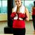 feminino · treinador · retrato · mulher · jovem · vermelho · luvas - foto stock © pressmaster