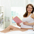 mujer · libro · foto · feliz · mujer · embarazada · sesión - foto stock © pressmaster