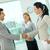 együttműködés · portré · sikeres · munkatársak · üzlet · megbeszélés - stock fotó © pressmaster