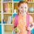 mooi · meisje · groene · appel · school · foto · vrouw - stockfoto © pressmaster
