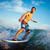 eau · sport · jeune · homme · mer · vague · blanche - photo stock © pressmaster