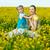kislány · anya · baba · citromsárga · mező · nő - stock fotó © prg0383