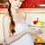 беременная · женщина · кухне · Салат · улыбаясь · женщину - Сток-фото © prg0383