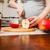 beautiful pregnant woman on kitchen stock photo © prg0383