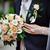 menyasszony · virágcsokor · esküvői · csokor · közelkép · virág · szeretet - stock fotó © prg0383