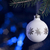 white christmas bauble in dark blue back stock photo © prill