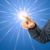wijzend · touchpad · afbeelding · zakenlieden · handen · discussie - stockfoto © prill