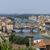 panoramik · görmek · katedral · şehir · Toskana - stok fotoğraf © prill