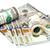 100 · dólares · banco · notas · aislado · blanco - foto stock © Pruser