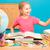meisje · wereldbol · boek · onderwijs · school · weinig - stockfoto © przemekklos
