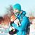 собака · экспедиция · бесплодный · зима · пейзаж · человека - Сток-фото © przemekklos