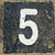 5   weathered number on old stone stock photo © pterwort