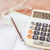 calculator · pen · bril · bank · rekening · voorraad - stockfoto © punsayaporn