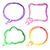 Set of colourful speech Bubbles stock photo © punsayaporn