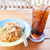 easy meal with stir fried spicy noodles and cola stock photo © punsayaporn