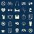gezondheid · gedrag · kleur · iconen · Blauw · voorraad - stockfoto © punsayaporn
