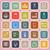 gadget line flat icons on pink background stock photo © punsayaporn