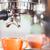 single shot in orange cup of coffee stock photo © punsayaporn