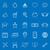 дома · линия · иконки · синий · складе · вектора - Сток-фото © punsayaporn