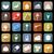 frutas · iconos · vector · establecer · 25 · colorido - foto stock © punsayaporn