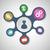 interacción · infografía · elemento · iconos · personas · flechas - foto stock © punsayaporn