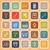 engineering line flat icons on orange background stock photo © punsayaporn