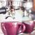 purple cup of hot coffee stock photo © punsayaporn