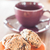 closeup cereal cookies on orange plate stock photo © punsayaporn