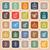fintech line flat icons on orange background stock photo © punsayaporn