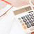 bank account passbook with pen calculator and eyeglasses stock photo © punsayaporn