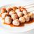Mini pork balls in white plate on clean table stock photo © punsayaporn