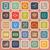 mobile phone line flat icons on orange background stock photo © punsayaporn