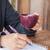 nő · ír · notebook · reggeli · felső · kilátás - stock fotó © punsayaporn