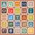 hotel line flat icons on orange background stock photo © punsayaporn