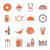 food orange icons set on white background stock photo © punsayaporn
