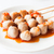 mini pork balls in white plate on clean table stock photo © punsayaporn