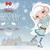 romantische · winter · meisje · sneeuw · dame · mode - stockfoto © purplebird