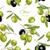 vegetali · verde · senza · soluzione · di · continuità · disegno · geometrico · fiore - foto d'archivio © purplebird
