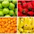 colagem · frutas · frescas · legumes · comida · maçã · verão - foto stock © pxhidalgo