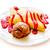 finom · palacsinta · csokoládé · szirup · étel · háttér · étterem - stock fotó © pxhidalgo