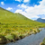 mountain river with blue sky and clouds stock photo © pxhidalgo